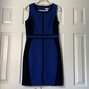 Blue & Navy Sheath Business Dress